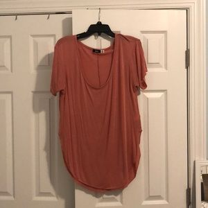 Peach colored soft shirt